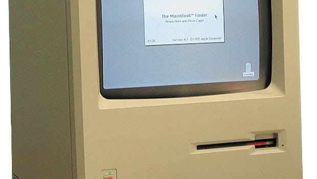 Der erste Macintosh von Apple erschien im Jahr 1984 und war der Nachfolger des technisch ähnlichen, aber wirtschaftlich erfolglosen Apple Lisa. (Bild: Wikipedia)