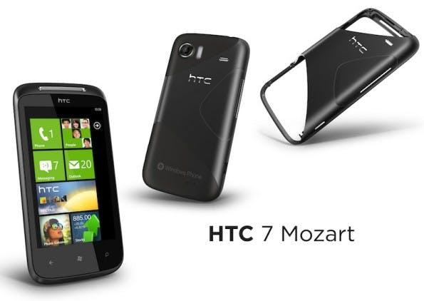 Das HTC Mozart war eines der ersten Modelle mit Windows Phone 7. (Bild: HTC)