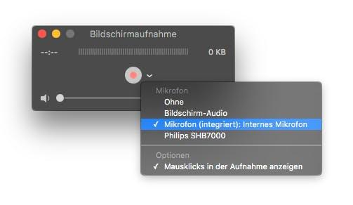 Bildschirmaufnahme mit weiteren Optione (Screenshot: t3n)