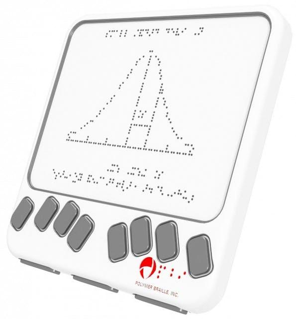 Braille-Lesegeräte der nächsten Generation können Texte mehrzeilig darstellen. (Bild: Polymer Braille)