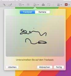 Einfach die eigene Unterschrift in Dokumente einfügen (Screenshot: t3n)
