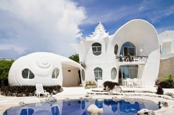 Das Muschelhaus in Mexiko weckt bei Nutzern von Airbnb besondere Begehrlichkeiten. (Foto: Airbnb)