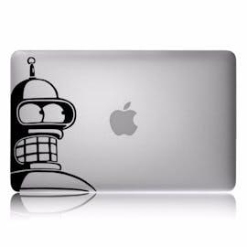 Bender aus Futurama beäugt das Apple-Logo. (Bild: Amazon)