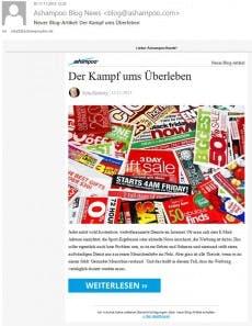 Diese Mailings bringen tausende Besucher. (Screenshot: Ashampoo)