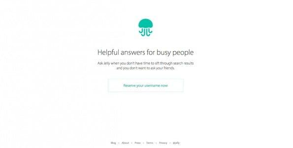 Die aktuelle Landingpage verrät noch nicht besonders viel – wer will, kann sich seinen Nutzernamen schon einmal reservieren. (Screenshot: Jelly)