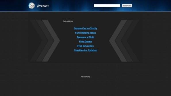 Noch ist auf der teuersten Domain 2015 nichts passiert. (Screenshot: give.com)