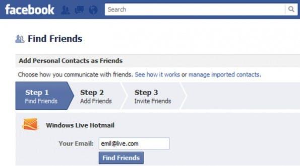 Der neue Facebook-Freundefinder – mit Einladungsoption. (Screenshot: zdNet)
