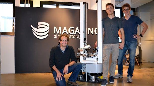 Hallo, ich bin Toru, der intelligente Lager-Roboter – und das sind meine Schöpfer von Magazino