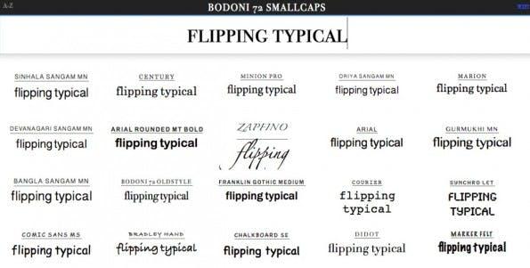 Font-Manager für den Browser: FlippingTypical.com.