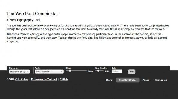 Font-Manager für den Browser: Font-Combinator.com.