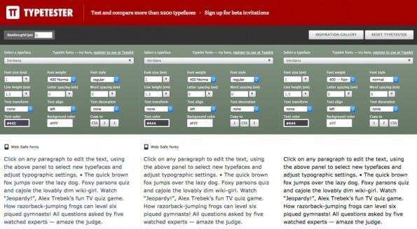 Font-Manager für den Browser: Typetester.org.