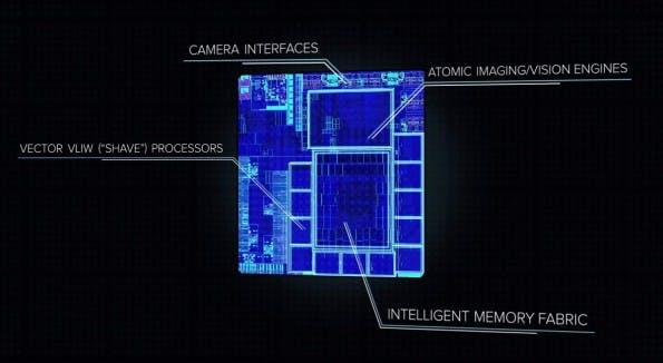 Google AI: Das ist der Myriad-2-Vision-Chip von Movidius. (Bild: Movidius)