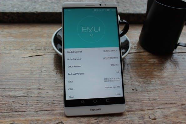 Das uns vorliegende Huawei Mate 8 mit der Modellnummer NXT-L29 besitzt einen Kirin 950-Prozessor, drei Gigabyte RAM und 32 Gigabyte interner Speicher. Foto: t3n)
