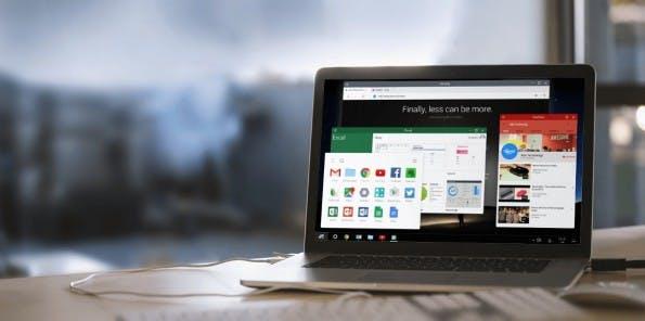 Das Android-basierte OS Remix OS zeigt,wie Android auf dem Desktop aussehen könnte. (Bild: Remix)