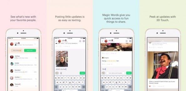 Peach ist eine Mischung aus Slack, Messenger und Social Network. (Screenshots: iTunes)
