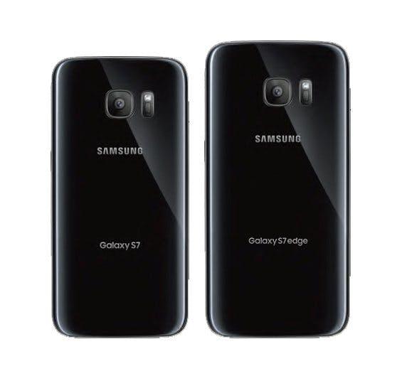Samsung Galaxy S7 und S7 edge von hinten. (Bild: )