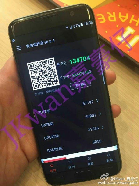 Samsung Galaxy S7 edge von vorne. (Foto: Kwangaho)