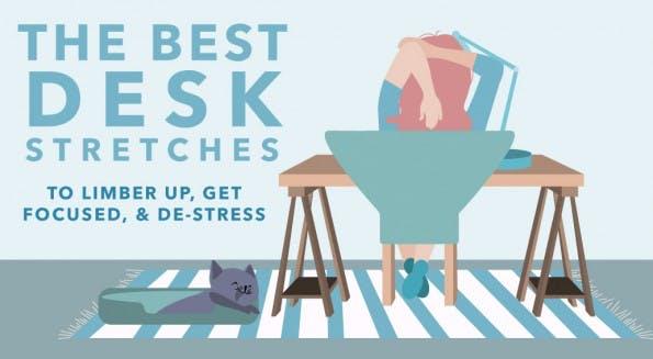 17 Schreibtisch-Übungen, die deinem Körper gut tun (Infografik: Health Perch)