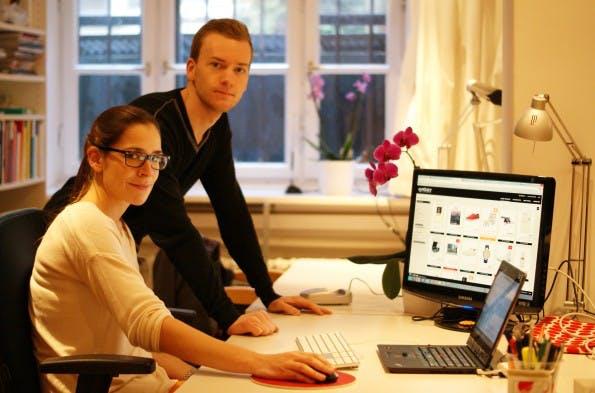 Das Team von Spottster: Freya Oehle und ihr Mitgründer Tobias Kempkensteffen. (Foto: Freya Oehle)