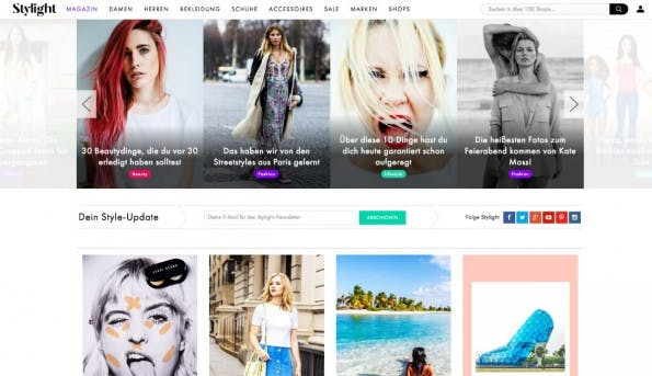 Stylight versteht sich als Shopping-Club für Modebewusste. (Screenshot: t3n)