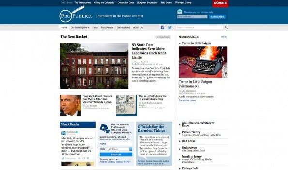 Hidden Service: Die Nachrichtenseite ProPublica ist bald auch als Tor-Hidden-Service verfügbar. (Screenshot: ProPublica)