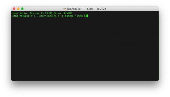 Dank der Software von Josh Ellithorpe könnt ihr das Web direkt aus dem Terminal heraus durchsuchen. (Screenshot: OS X Terminal)