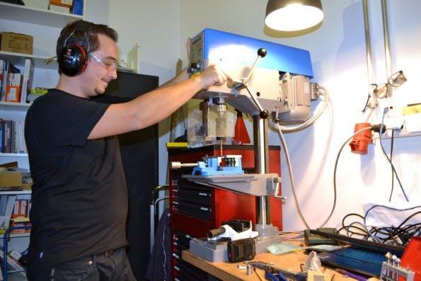 Die Heimat der Maschinenbauer: Die Werkstatt. (Foto: Jochen G. Fuchs)