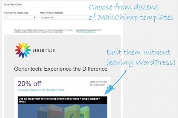 Mit einem Plugin lässt sich MailChimp ins WordPress-Backend integrieren. (Screenshot: mailchimp.com)