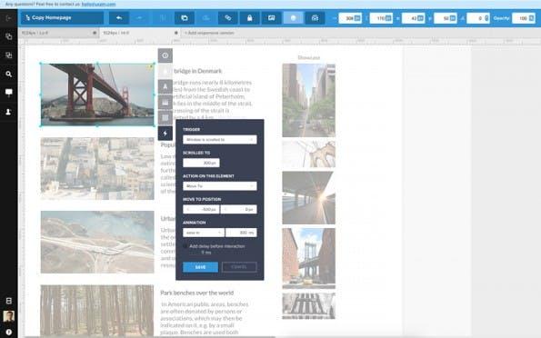 Mit wenigen Klicks vom Wireframe zum fertigen Prototype. (Screenshot: uxpin.com)