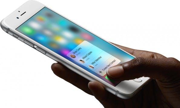 Force-Touch-Funktion – bald wohl auch vermehrt auf Android-Geräten. (Bild: Apple)