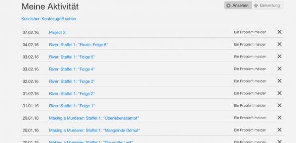 So löschst du den Film- und Serienverlauf bei Netflix. (Screenshot: t3n)