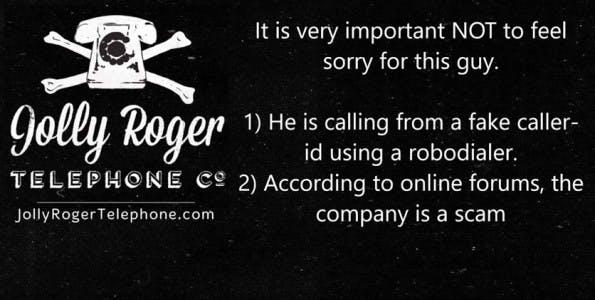 Jolly-Roger-Bot: Spaß mit Werbeanrufern. (Screenshot: YouTube/Jolly Roger Telephone)