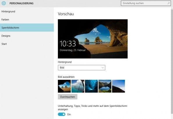 """Windows-10-Tipp: Den Kippschalter auf """"Aus"""" schalten und dann verschwindet die unerwünschte Werbung aus dem Sperrbildschirm. (Screenshot: t3n)"""