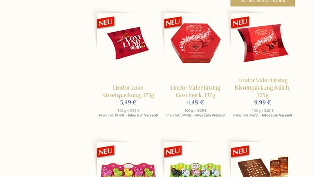 (Screenshot: Lindt)