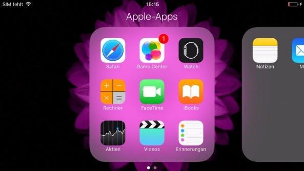 Apples Standard-Apps unter iOS: Mehr als eine Sammlung anlegen war bisher nicht möglich. (Screenshot: t3n)