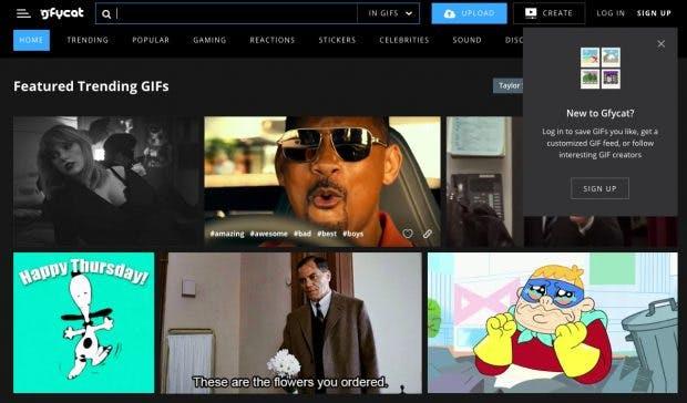 Gfycat ist eine weitere gute Anlaufstelle für animierte GIFs. (Screenshot: Gfycat)