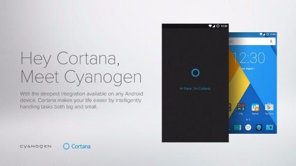 Schon seit Cyanogen OS 12.1.1 vorinstalliert: Microsofts Cortana. (Bild: Cyanogen)