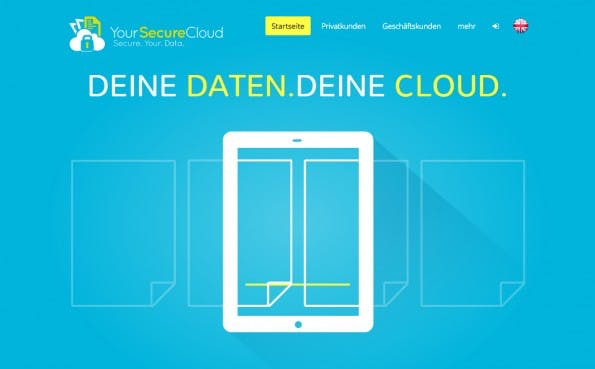 YouSecureCloud speichert eure Daten in Deutschland. (Screenshot: yoursecurecloud.de)