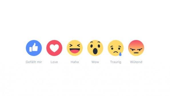 Facebook Reactions: Ab sofort haben auch deutsche Nutzer mehr Möglichkeiten, um auf einen Beitrag zu reagieren. (Screenshot: facebook.com)