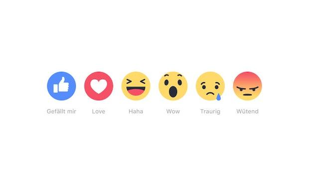 Von 👍 bis 🙁: Das sind die beliebtesten Facebook-Reaktionen
