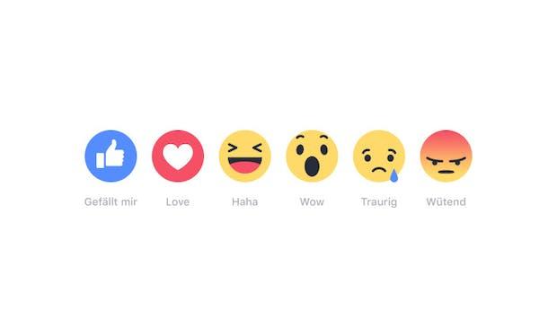 👍♥️😆😯😢😡 – Facebook weitet Reaktionen auf Kommentare aus