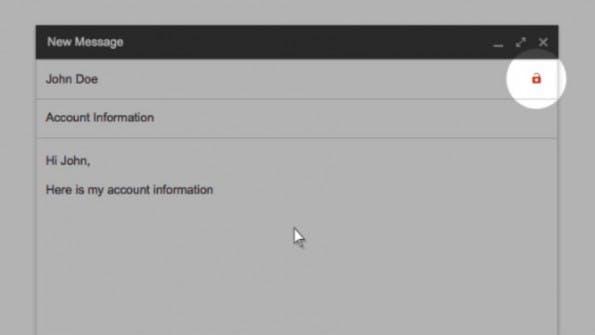 Wer Emails an unverschlüsselte Empfänger schickt, erhält einen Warnhinweis. (Bild: Google)