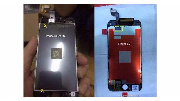 Aufgetauchte iPhone-SE-Bauteile deuten auf das Fehlen der Force-Touch-Funktion hin. (Foto:  Stagueve)