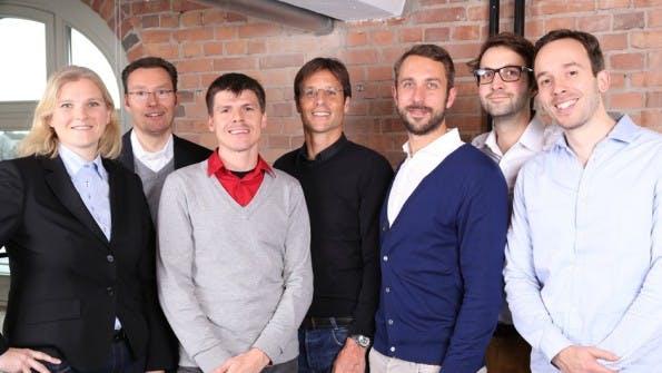 Die Metrigo-Gründer mit der Zanox-Führungsriege. (Foto: Metrigo)