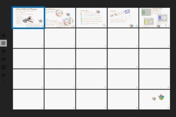 Microsoft: Plumbago ist ein digitales Notizbuch für Windows-Tablets. (Screenshot: Microsoft)