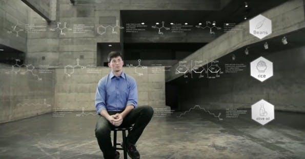 Rob Rhinehart, der Erfinder der Flüssignahrung. Sein Nahrungspulver-Shake Soylent war der erste auf dem Markt. (Screenshot: YouTube)