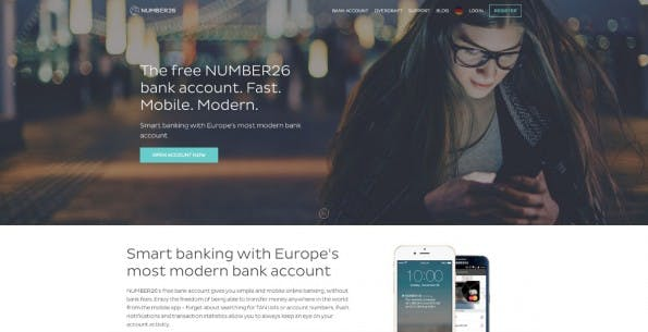 Die Fintech-Startups Number26 und TransferWise machen gemeinsame Sache. (Screenshot: number26.eu)