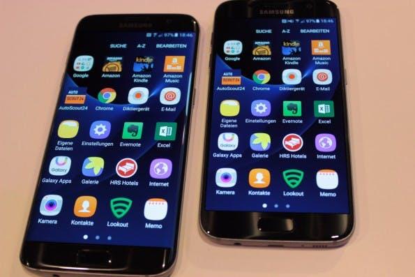 Samsung Galaxy S7 und S7 edge mit geöffnetem App-Drawer. (Foto: t3n)