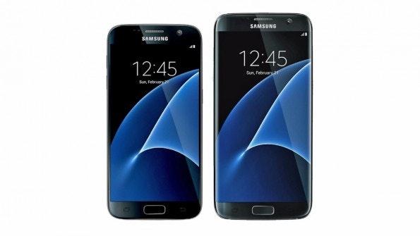 Samsung Galaxy S7 mit 5,1-Zoll-Display vs. Galaxy S7 edge mit 5,5-Zoll-Screen. (Bild: Samsung)