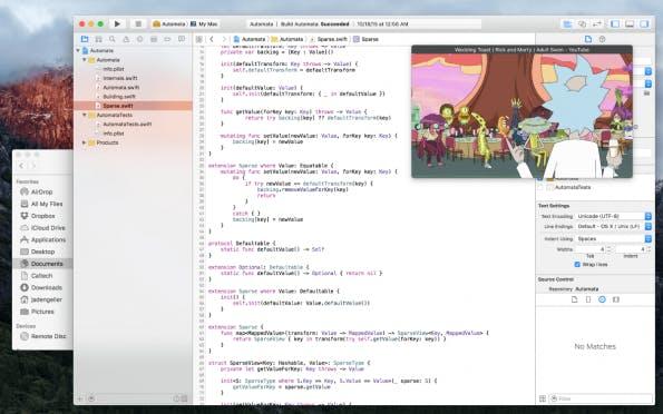 Mit Helium kann sich jeder ein kleines Browser-Fenster mit Netflix-Support neben sein E-Mail-Programm schieben. (Screenshot: Helium)